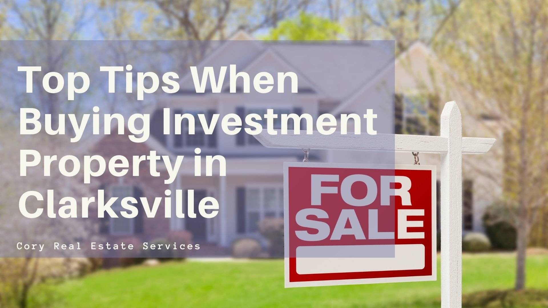 buying investment property tips